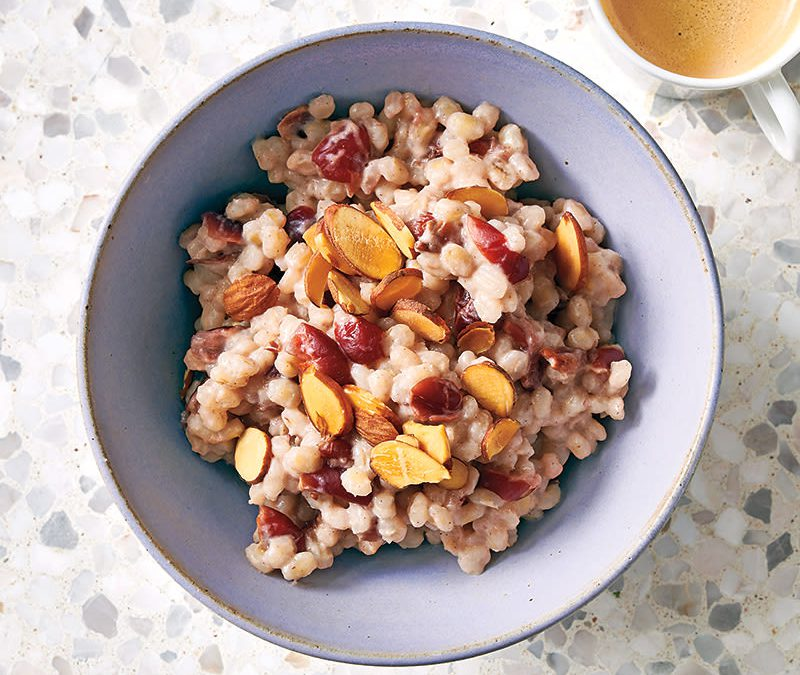 Cranberry-almond morning barley