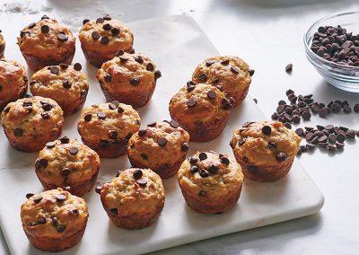 Banana chocolate-chip mini muffins