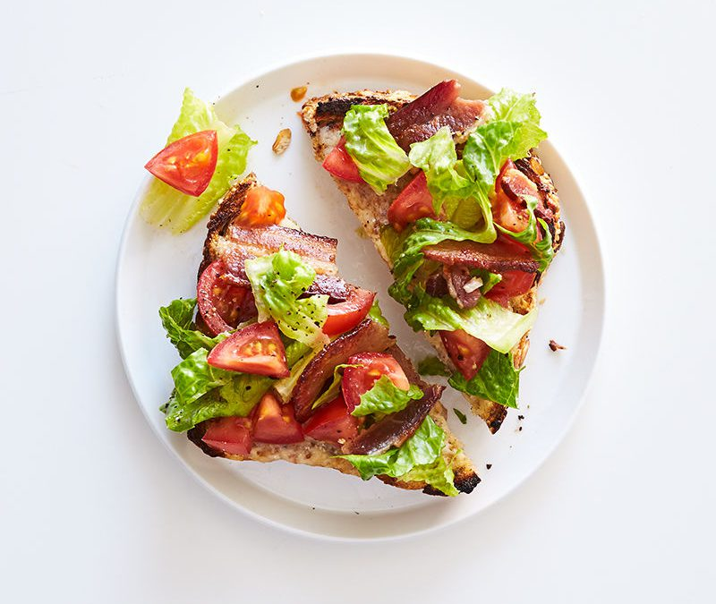 BLT breakfast cheese toast
