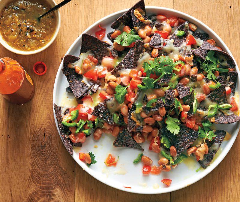 Blue corn nachos