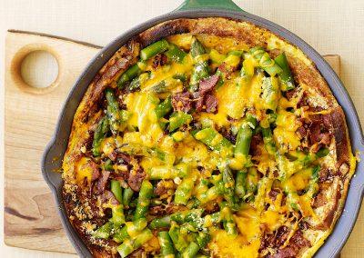 Asparagus, bacon, and cheese strata