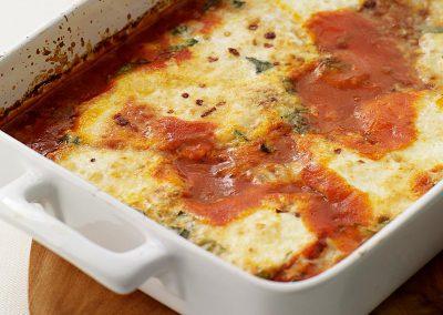 Baked eggs Italian-style