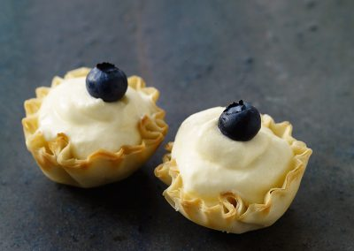 Berry-lemon tartlets