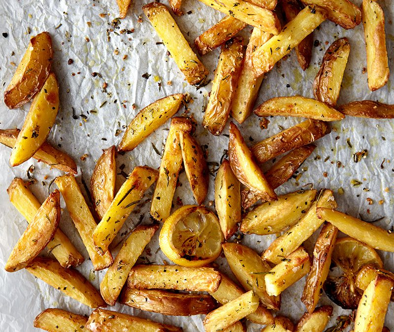 Garlic, rosemary and lemon-oven fries